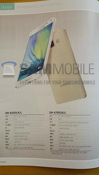 Samsung未発表スマートフォン「Galaxy A7」と「Galaxy Max」のパンフが流出