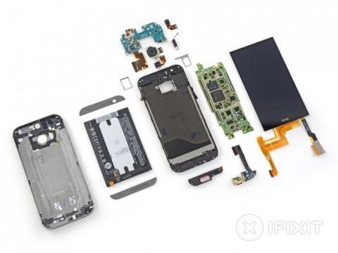 【HTC One M8】iFixitが分解、判定結果を公開し修理が非常に難しいと判定