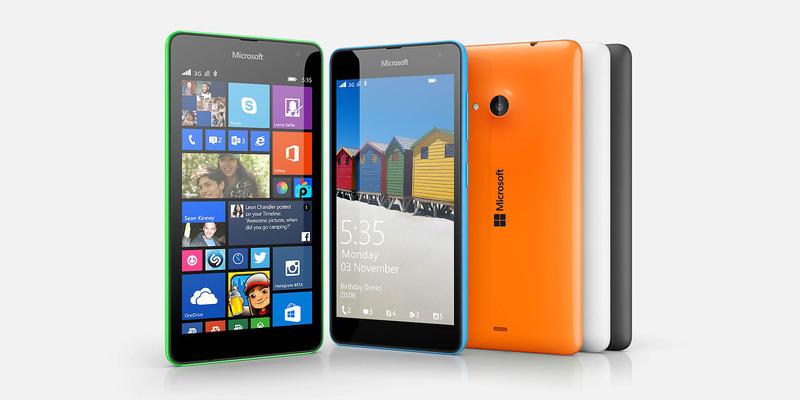 MicrosoftロゴになったWindowsPhone 8.1「Microsoft Lumia 535」を発表
