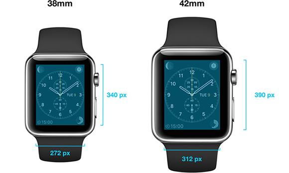 Apple Watchの解像度が判明へ 390×312と340×272ピクセルに