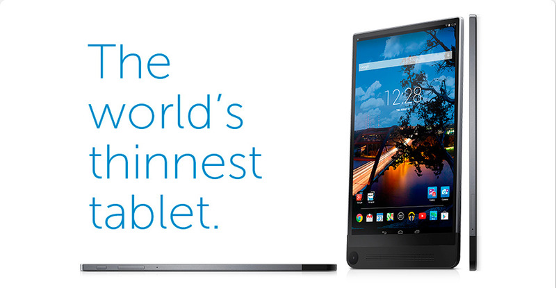 Dell-世界最薄のAndroidタブレット「Venue8 7000Series」を発表