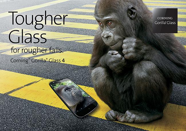 ガラスメーカーのコーニングがGorillaGlass 4(ゴリラガラス 4)を発表