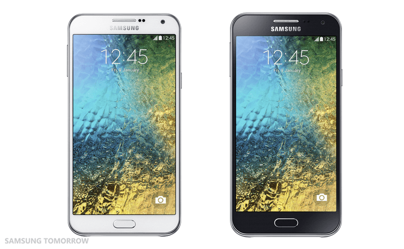 CES 2015:Samsung、若者をターゲットにしたエントリーモデル「Galaxy E7」と「Galaxy E5」を正式発表