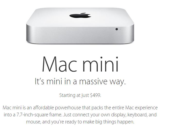 Apple-新型のMac miniを遂に発表!初代よりも安くなって5万2800円~