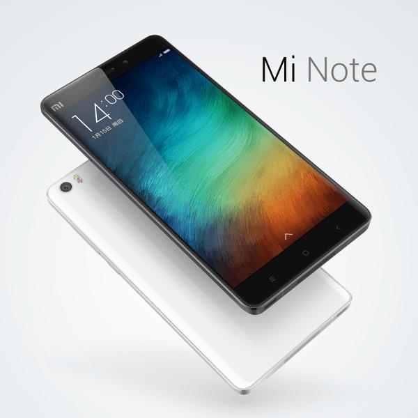 中国、Xiaomi フラッグシップファブレット「Mi Note」と「Mi Note Pro」を発表/4GB RAM/2kディスプレイなど