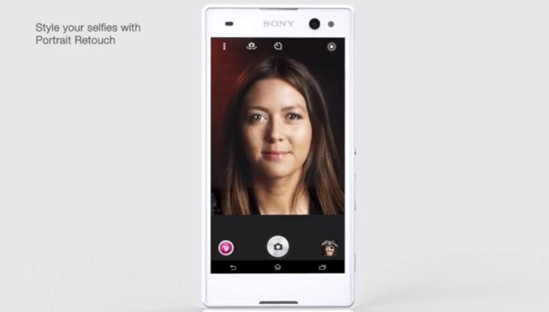 SonyMobile-XperiaC3を発表。自撮りが捗るスマートフォン