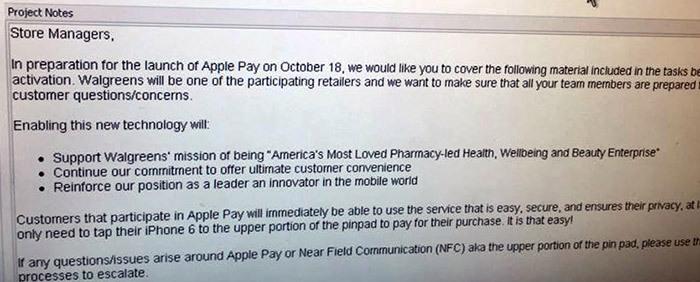 Apple Pay提携店の内部メモが流出-「iOS8.1」は10月18日までにリリース