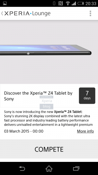 ソニー、Xperia Z4 Tablet を開発中であることが判明