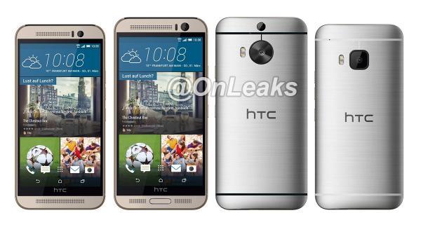 HTC One M9+のプレス画像が流出-物理的なホームボタン搭載へ?