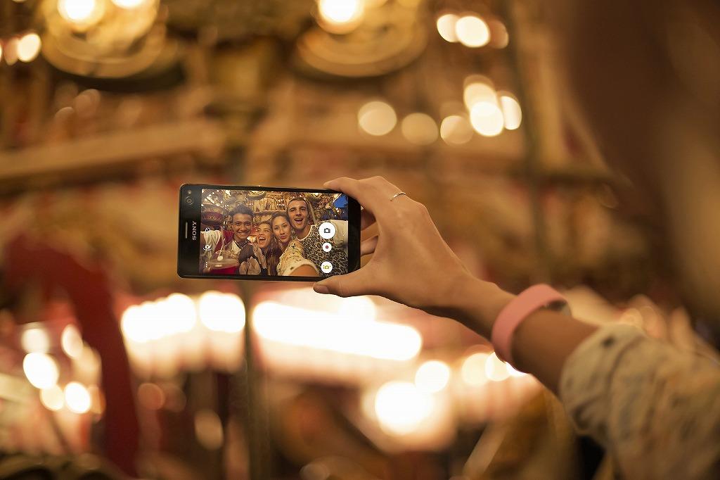 ソニー、自撮り特化スマートフォン「Xperia C4」を発表
