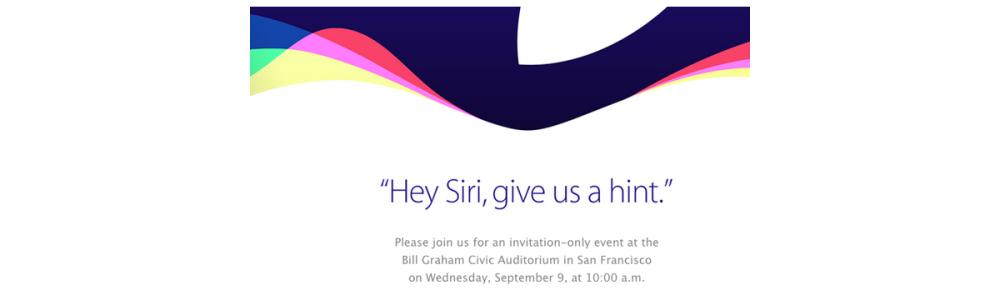 Apple、9月9日にイベントを開催すると各メディアに招待状を送付へ