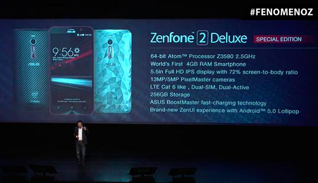 ASUS 256GBストレージ搭載の「Zenfone 2 Deluxe Special Edition」をブラジルで発表