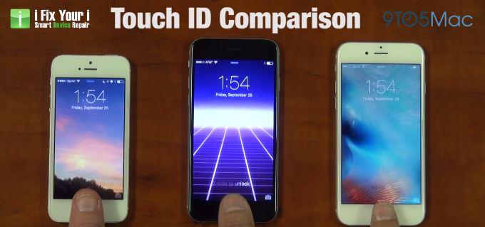 【動画】iPhone 6sに搭載しているTouch IDの認識精度の速さはすごい!