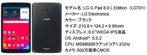 LG G Pad 8.0 L Edition