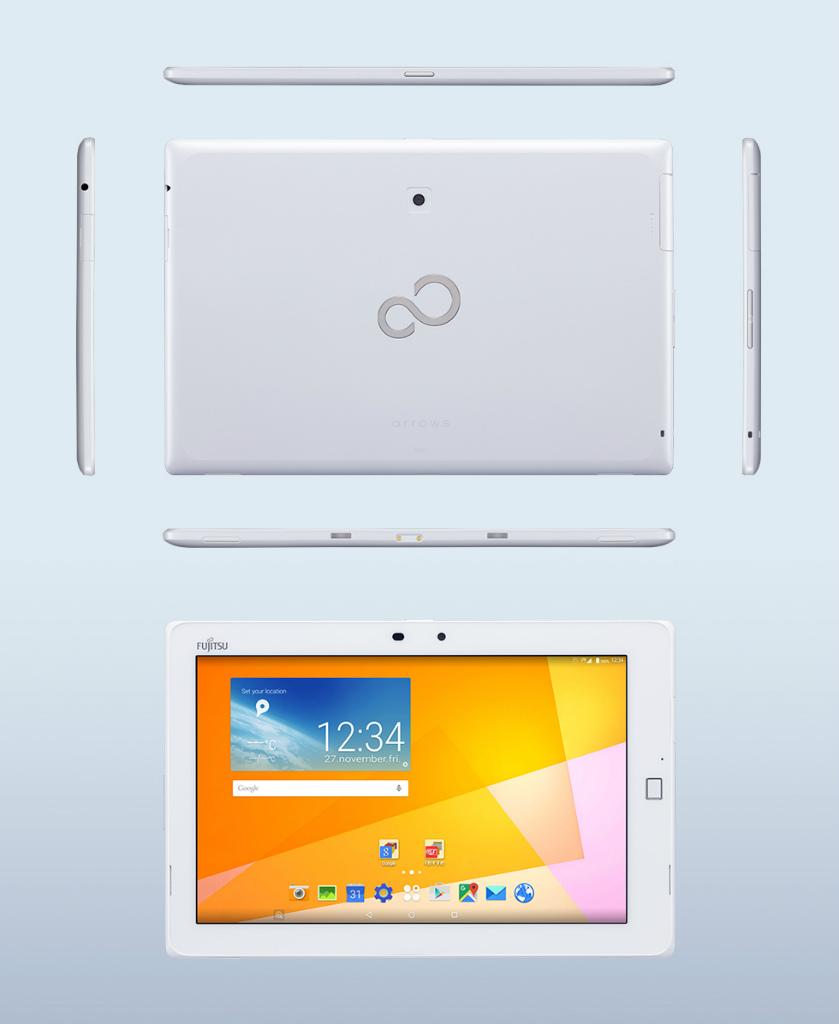 富士通、指紋認証搭載SIMフリータブレット「arrows Tab M01T」を発表