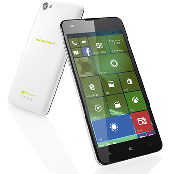 マウスコンピュータ、「MADOSMA Q501」をWindows 10 Mobileへアップデートへ。同時にWin 10搭載モデル「Q501A」も発表