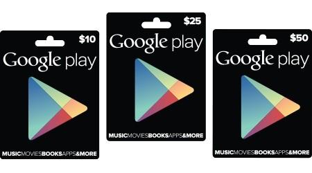 Google Playギフトカードが日本でも販売開始。