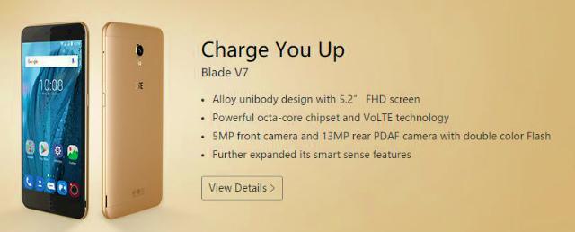 【MWC 2016】ZTE ミッドレンジスマートフォン「Blade V7」「Blade V7 Lite」を発表