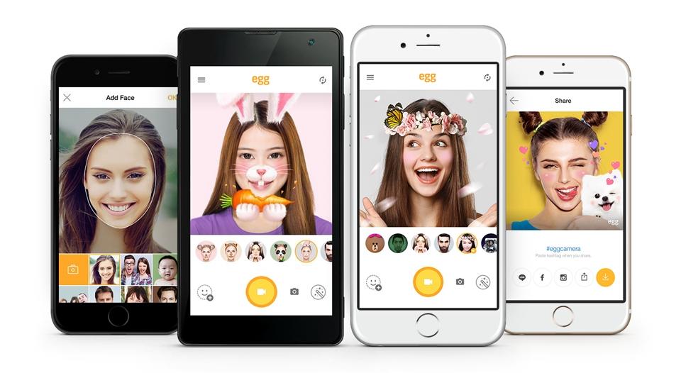 LINE、Snapchatに対抗した自撮り動画アプリ「egg(エッグ)」を公開