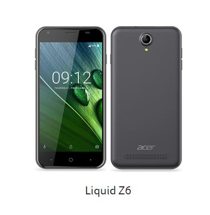 Acer、エントリーモデルスマホ、「Liquid Z6 / Plus」を発表