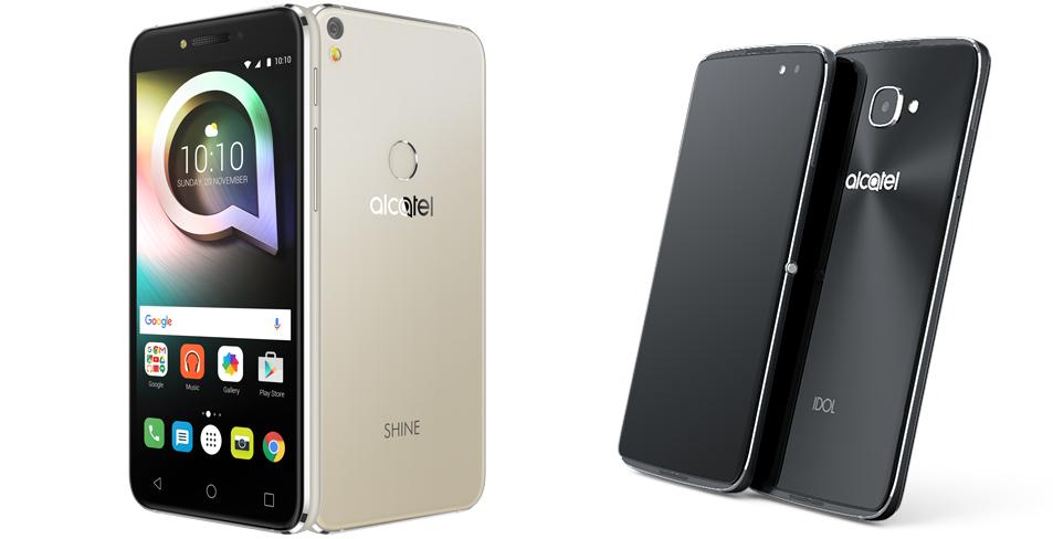 TCL、SIMフリースマートフォンの 「Alcatel IDOL 4」と「SHINE LITE」を発表