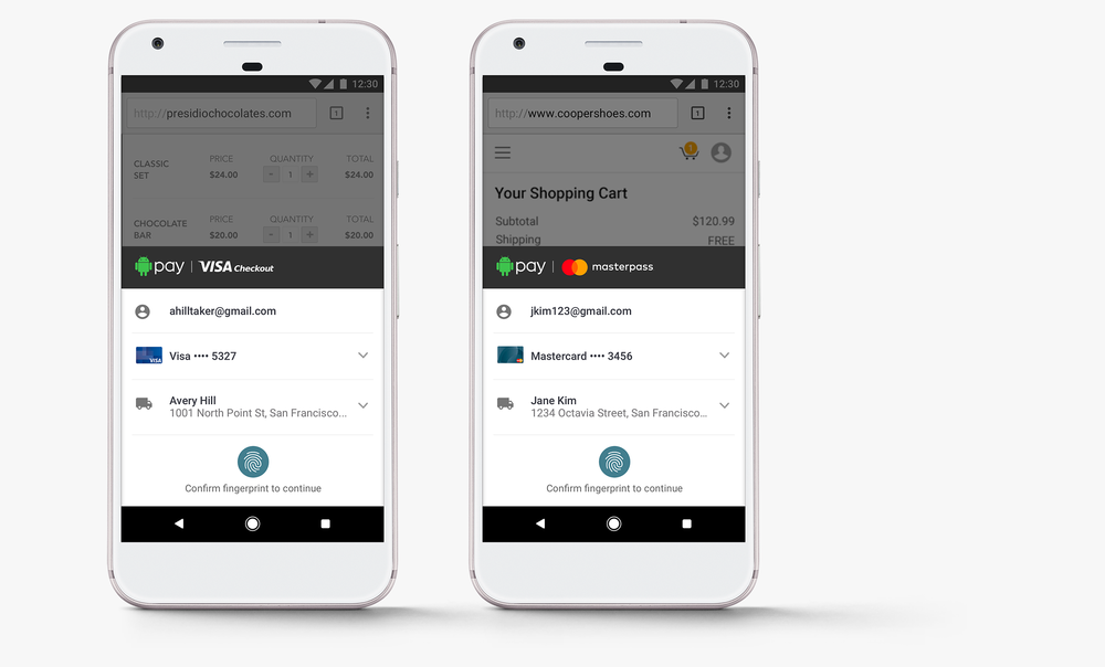 Android Pay、「Visa」「MasterCard」と提携へ