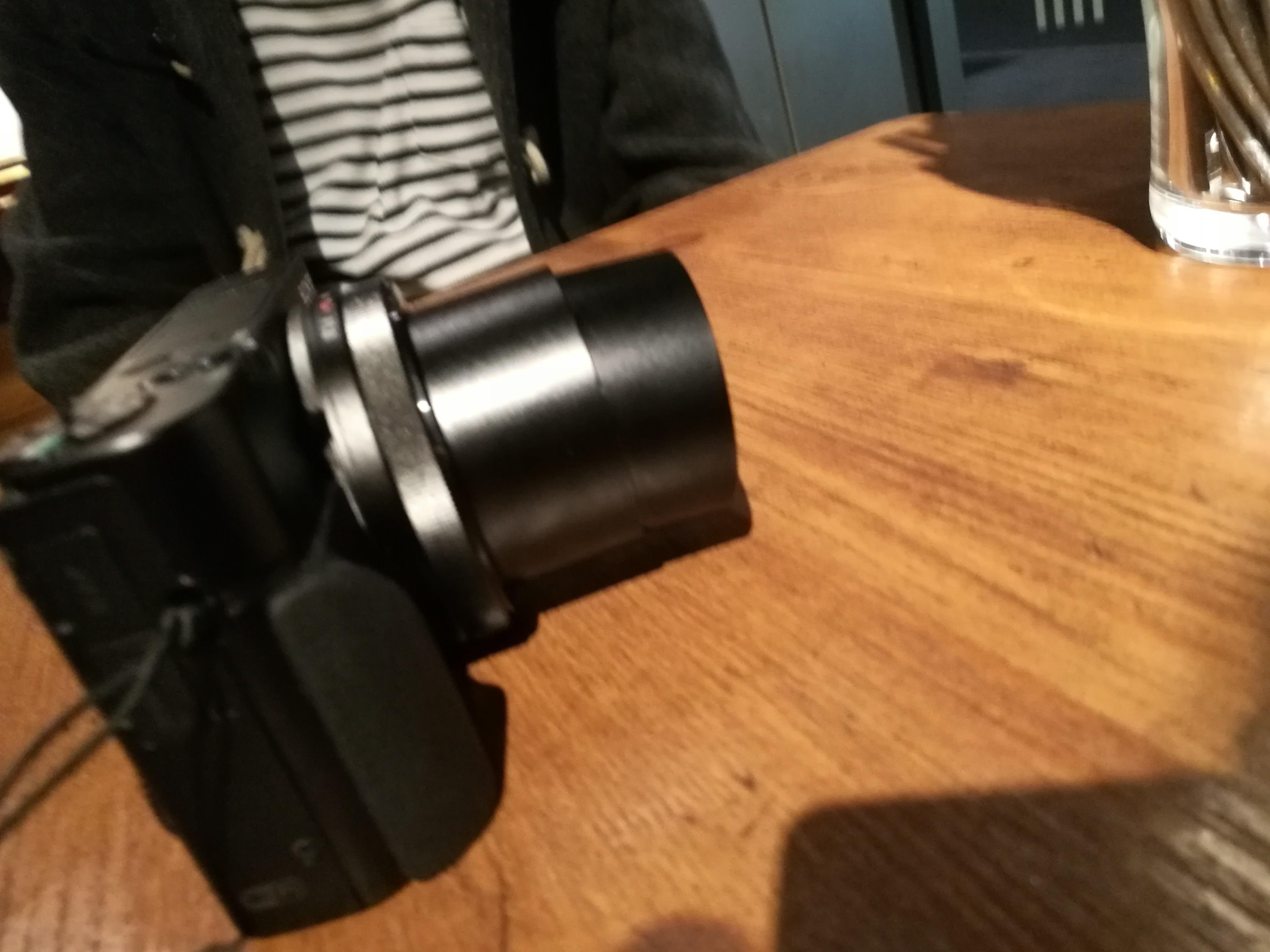 壊したカメラ