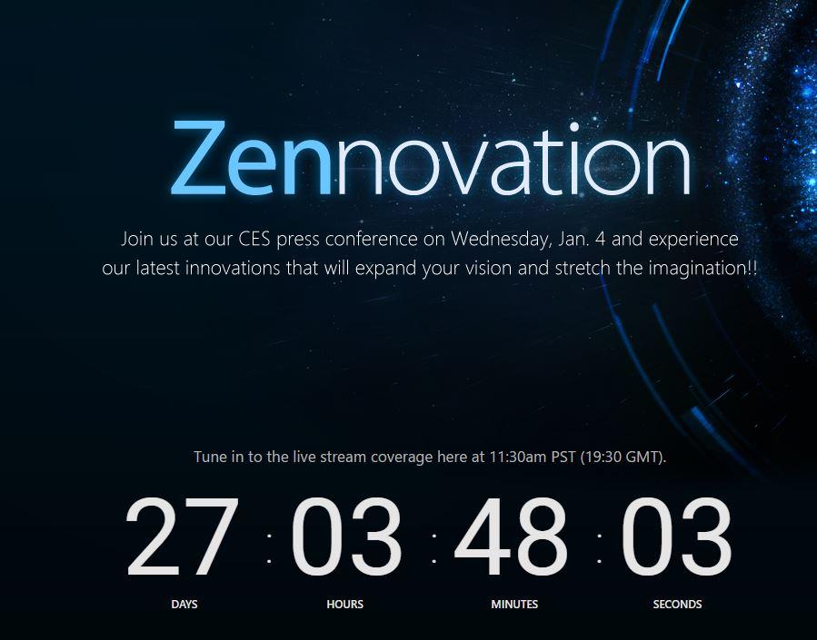 ASUS、CES 2017でプレスイベント「Zennovation」を開催へ