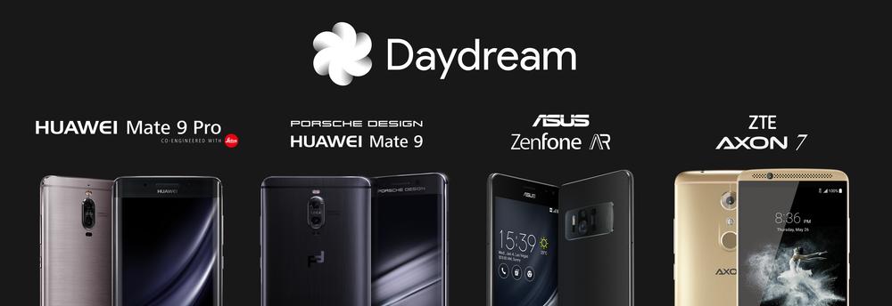 Google、DayDream対応機種を4機種追加へ