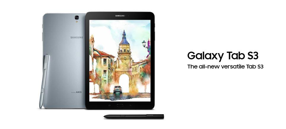 Samsung、Sペン搭載の「Galaxy Tab S3」を発表