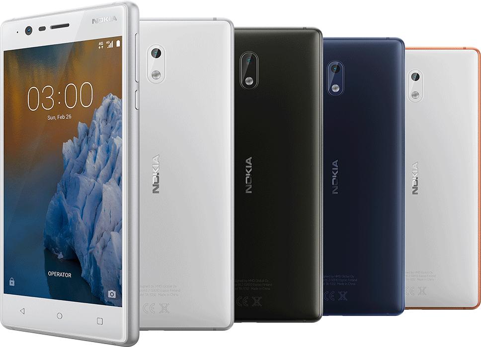 Nokia、エントリー、ミドル向けスマホ「Nokia 3 / 5 / 6」を発表