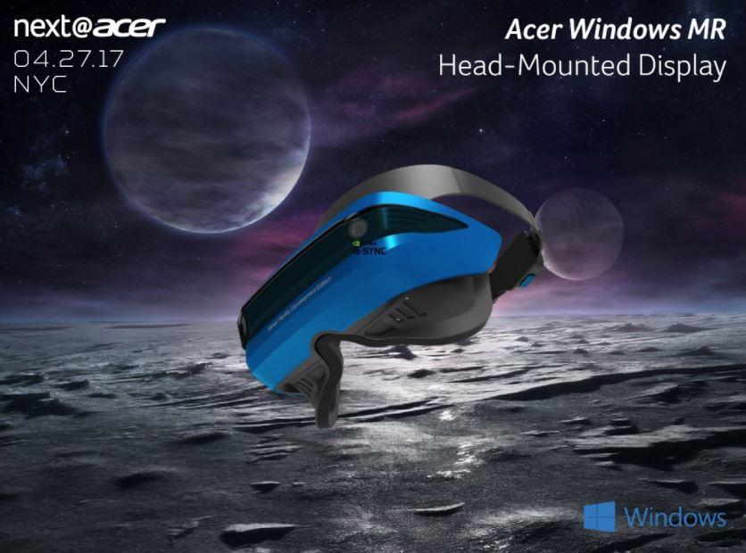 Acer、Windows MR HMDを発表ーとても軽いことを強調