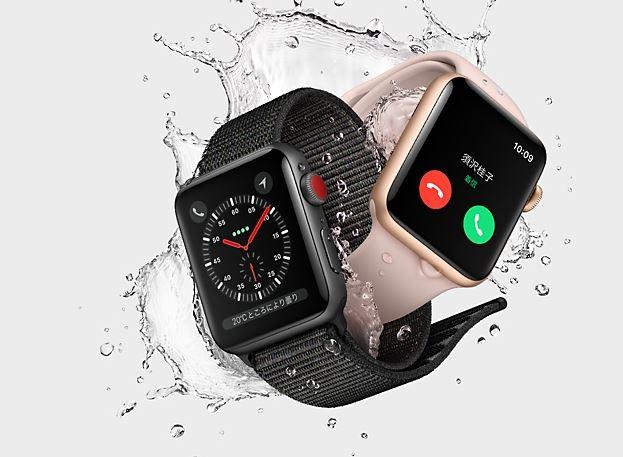 セルラー版AppleWatch S3の3キャリアのプランが出揃う