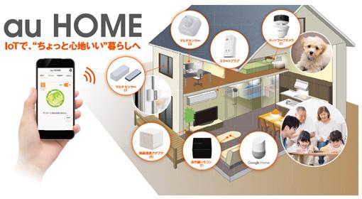au KDDI、ホームIoT「au HOME」のサービス内容が拡充へ